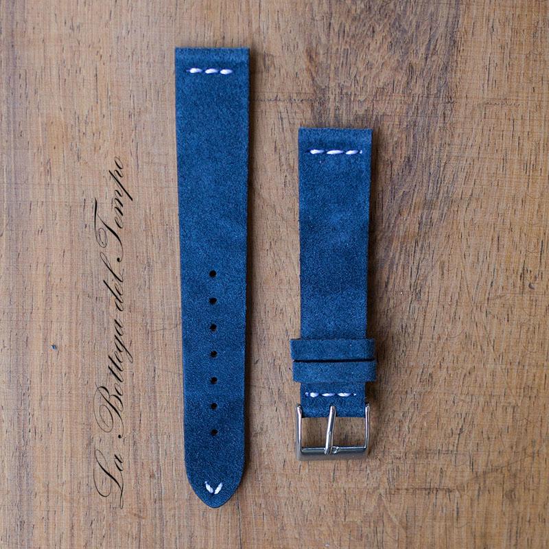 Correa Vintage M3 de piel de Ante Azul 20mm