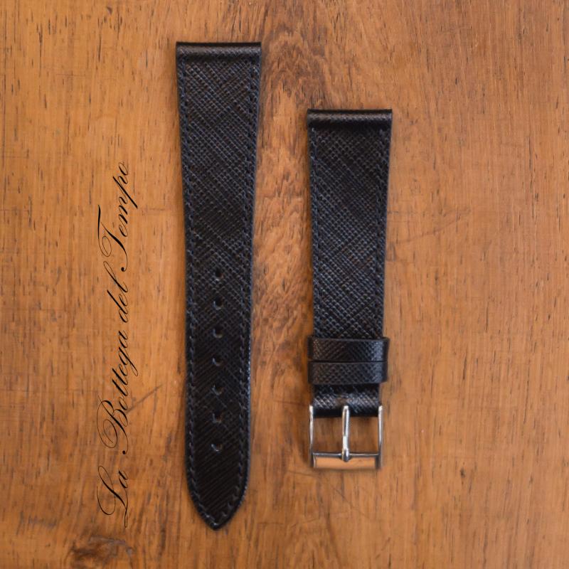 Saffiano Cuero Negro 20mm
