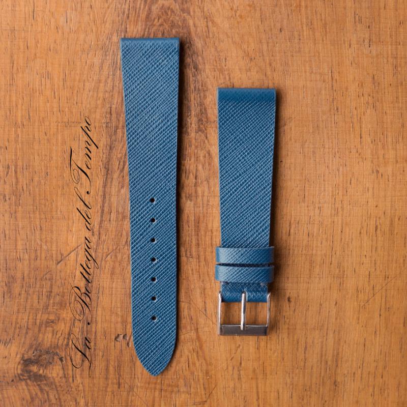 Saffiano Cuero Azul 20mm