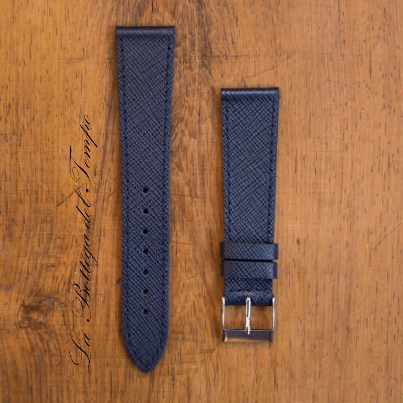Saffiano Cuero Azul Oscuro 20mm