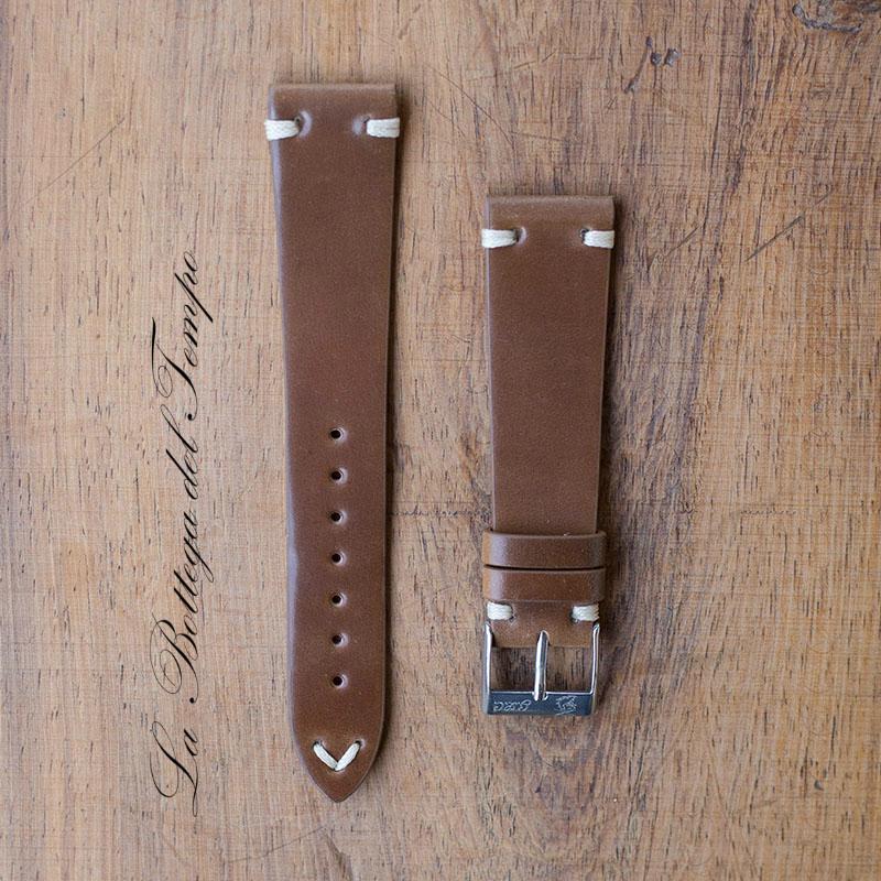 Correa de cordovan marrón 20mm