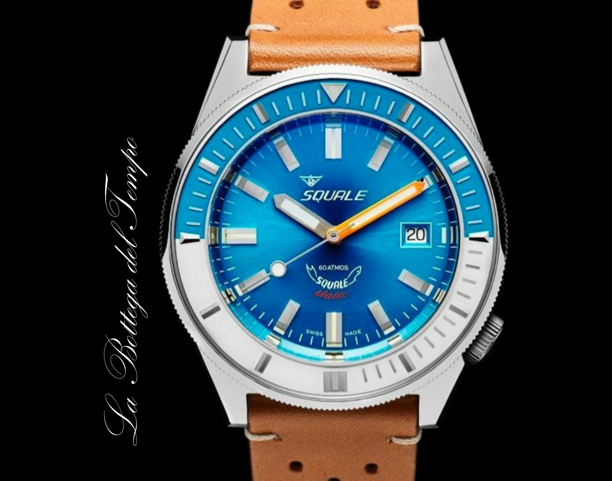 Squale Matic Light Blue 60 ATM
