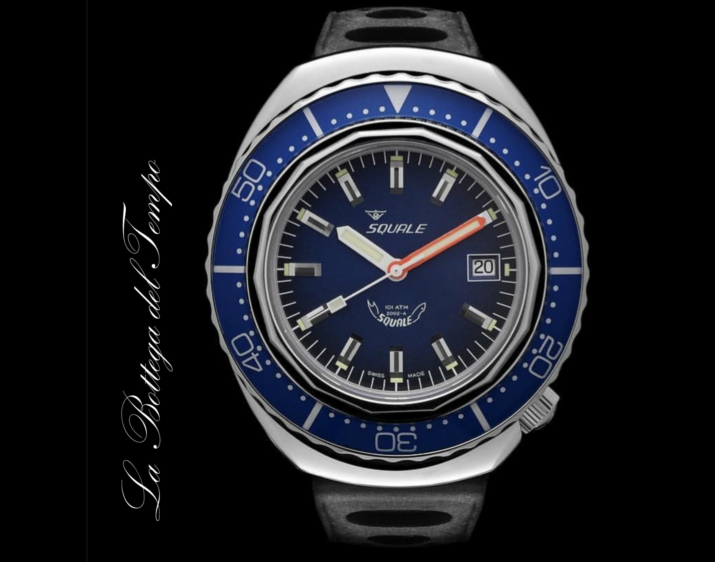 Squale Ref. 2002 – A blue bezel 101 ATM
