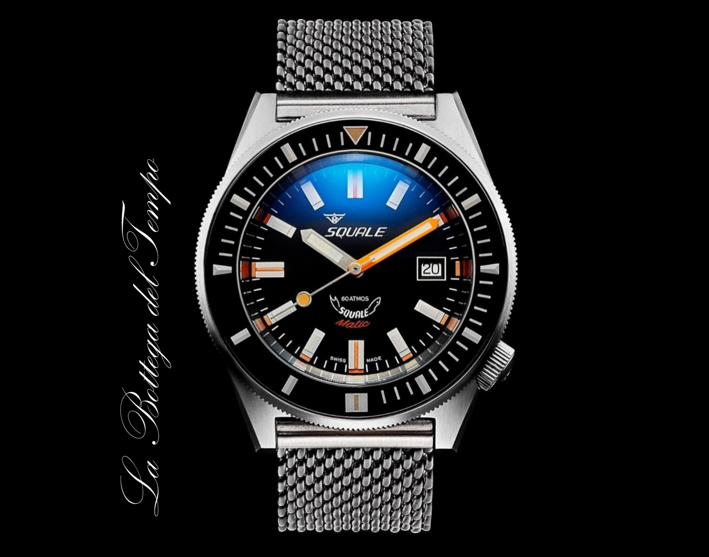 Squale Matic Brushed Steel Mesh 60ATM